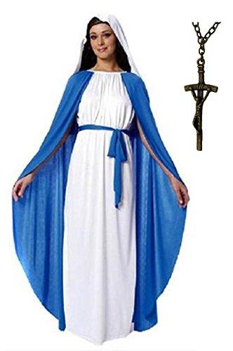 マリア様 十字架付き コスプレ 衣装 コスチューム レディース 女 hw020