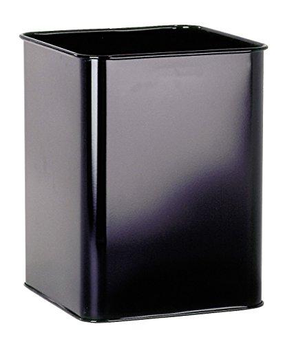 Durable 331501 Corbeille à Papier Carrée 18,5 litres Hauteur 32 cm en Métal Peint Coloris Noir
