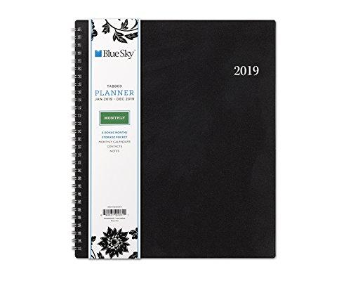Blue Sky 2019 Monthly Planner, Flexible Cover, Twin-Wire Binding, 8u0022 x 10u0022, Barcelona (100004-19)