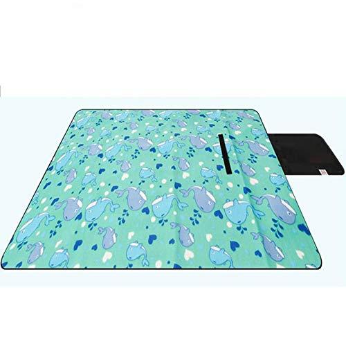 CRSM 200 * 200 Cm Inklapbare Outdoor Camping Slaapkussen Waterdichte Draagbare Bed Picknick Mat Lattice Slaapdeken Baby Travel Mat Licht Groen 200 * 200 Cm