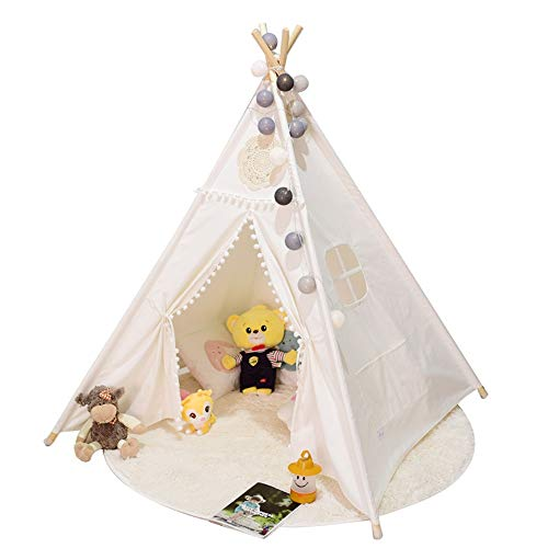 YLJB Kids Play Tent TTeepee Play Tent For Kids Children Play House Toys For Baby Indoor And Outdoor Playing Ideal Size For Children's Rooms Party And Holidays Decoration Children's Play House