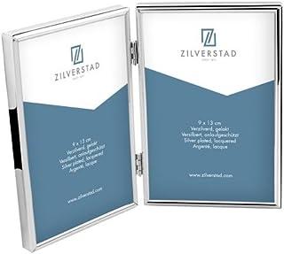 Zilverstad Sweet Memory Double Photo Frame, Metal, Silver, 1.11 x 26.4 x 18.11 cm