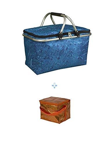 Isolierte Kühltasche + Kühltasche - ideal für Einkauf & Picknick Kühltasche 210x170 mm