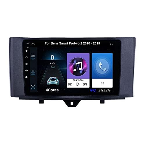 Autoradio Android Car Radio Stereo 9 Pulgadas Pantalla Táctil Para Benz Smart Paratwo 2 2010-2015 Para De Coche Conecta Y Reproduce Autoradio Mit Bluetooth Freisprecheinrichtung