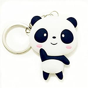 Silicone Panda Cartoon Keychain Pendant