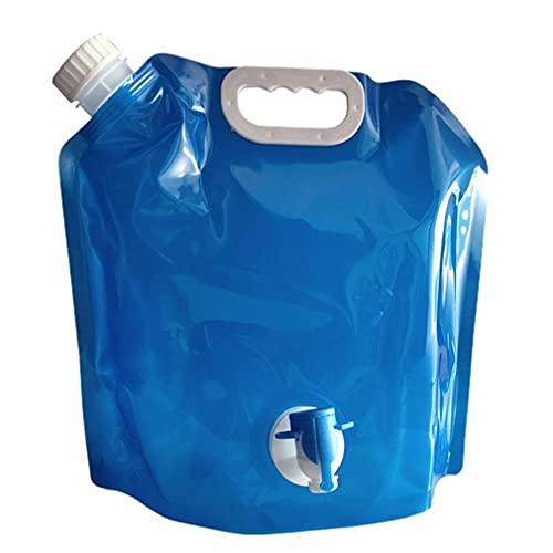 Bidón de 5 l, almacenamiento de agua, bidón de agua con grifo, para el hogar al aire libre, plegable y portátil, para almacenamiento de agua, para el coche, para emergencias