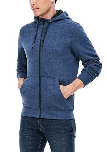 s.Oliver Herren 130.11.899.14.150.2055093 Sweatshirt-Jacke, Dark Blue Melange, L