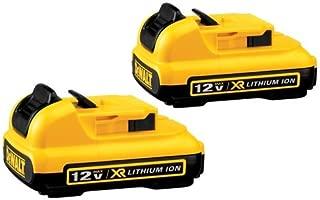 DEWALT DCB127-2 12V Max Lithium Battery, 2-Pack