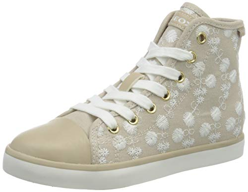 Geox Mädchen JR CIAK Girl B Hohe Sneaker, Beige (Beige C5000), 34 EU