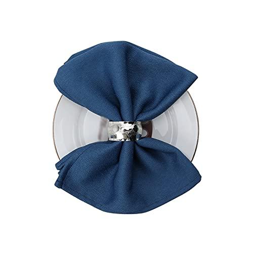Servilletas de Tela 10 paquetes de algodón-poliéster servilletas Toallitas Toallitas Tablas de...