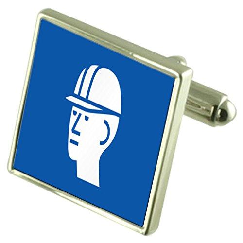 Señal de Seguridad Sombrero Duro Grabado Keepsake Cuadro de Mensaje