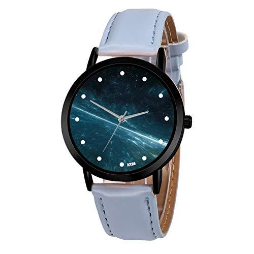 Tongjun Leather for Mujer Relojes de primeras Marcas Señora Fantasía Estrellada SK Reloj Negro Hebilla del Reloj Relojes de Pulsera for la Mujer #Fantasy Reloj de Cuarzo (Color : 2)