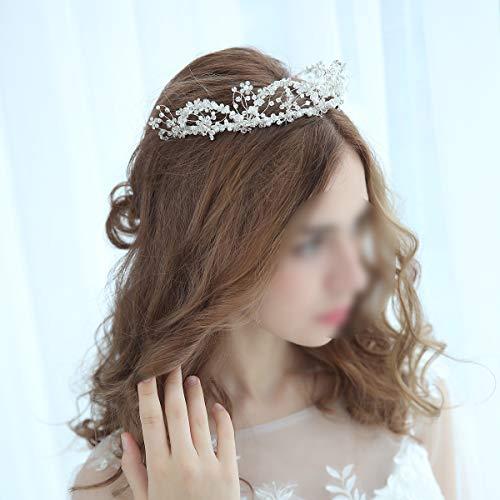 Amosfun 1Pc Elegante Frauen Haarkrone Kopfstück Bridal Tiara mit Combs für Hochzeiten Geburtstagsfeier