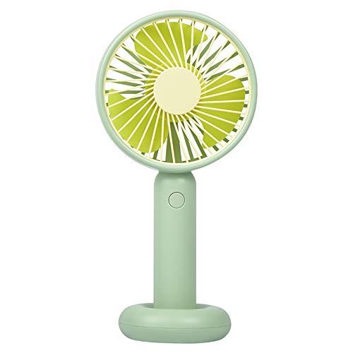 Schreibtischventilator Hält Einen Kleinen Ventilator Lautloser Lüfter Traveller Personal Office Fan, Geeignet Für Verschiedene Lebensszenarien,Grün