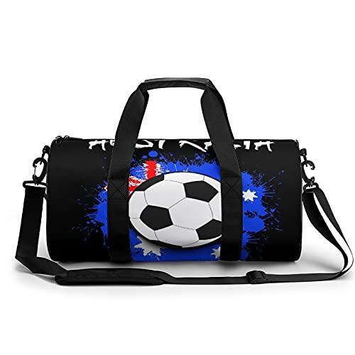 Borse Da Palestra Pallone Da Calcio Con Bandiera Dell'australia Borsa Sportiva Leggera Per Uomo E Donna