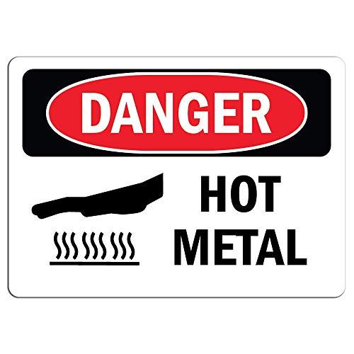 Señal de Peligro – Pegatinas de Advertencia de Metal Caliente, calcomanía de...