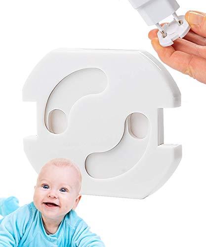11x Steckdosen Kindersicherung von Avantina® - selbstklebende Kindersicherung Steckdose - Steckdosenschutz mit Drehmechanik und integrierter Klebefläche, schnelle und einfache Montage