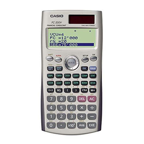 Casio FC-200V Calculadora financiera con pantalla de 4 lí