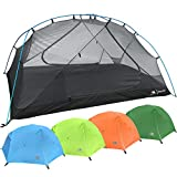 2 Person Backpacking Tent with Footprint - Lightweight Zion Two Man 3 Season Ultralight, Waterproof, Ultra Compact 2p Freestanding Backpack Tents for Camping and Hiking by Hyke & Byke (Blue)