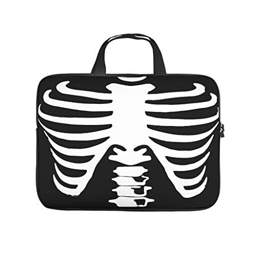 Laptop Bag Skeleton Durable Modern Design -HalloweenLaptop Bag Compatible with 13-15.6 inch MacBook Air white 13 zoll