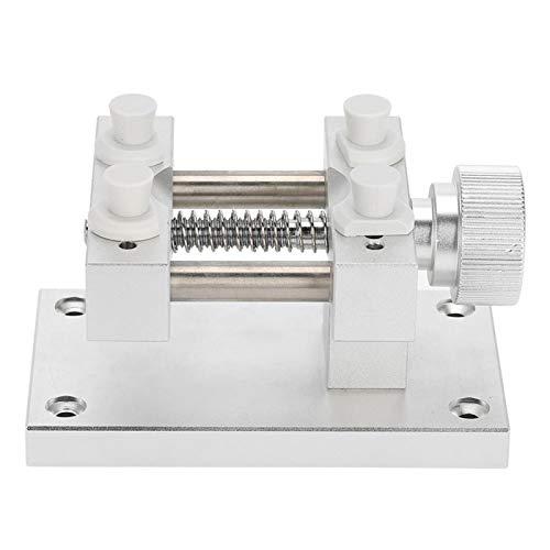 Herramienta de reparación de movimiento de reloj profesional ajustable, fácil de usar, máx. la apertura es de 80 mm(Silver)
