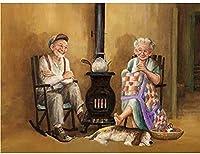老夫婦。ブリキのサインヴィンテージ鉄の絵画金属板の個性ノベルティ