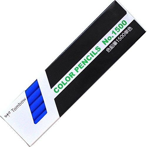 トンボ鉛筆 色鉛筆 1500単色 青 1ダース 1500-15
