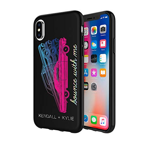 KENDALL + KYLIE Protective Printed Case for iPhone X - Bounce with Me Matte Black/Metallic Foil/Pink Foil/Multi