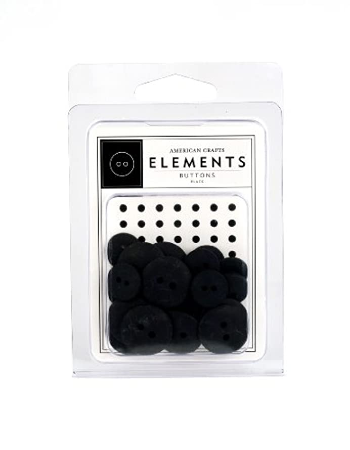 American Crafts Elements Buttons, Black