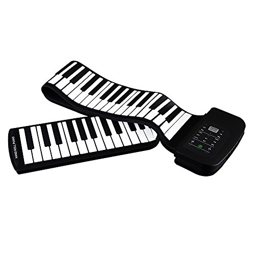 ammoon 88 Keys - Piano Portátil 88 Teclas de Silicona Flexible Enrollable...
