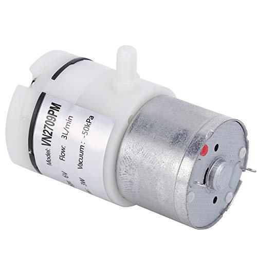 3-teilige Tauchwasserpumpe DC6V 3W Mini-Membranpumpe Ultra-leises Design Geräuscharm für Brunnen und Teiche