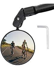 Keten Fietsspiegel, 360 ° draaibare fiets achteruitkijkstang einde bolle spiegel, fietsaccessoires voor racefietsen, MTB, E-bikes en meer (1 stuk)