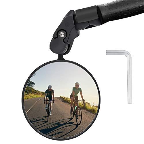 Keten Specchietto per Bici, Specchietto Retrovisore per Bicicletta Ruotabile a 360°, Specchietto Convesso, Accessorio Perciclismo per: Bici da Strada, MTB, E-Bike e Altro (1 PZ)