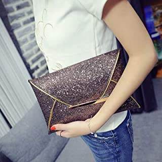 iBag's 2018 Fashion women's envelope clutch bag purse for party brand trend gold black handbag large Ladies Clutches