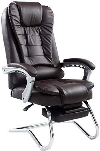 WSDSX Office Chairs Computer Chair Reclining Computer Chair wth Footrest High Back PU Leather Office Desk Chair Linkage Handrail Ergonomic Large Size E-Sport Chair for Study Office (Colo