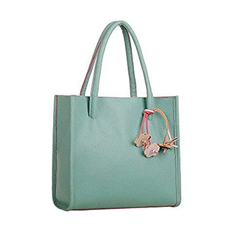 Buckle Satchel Handbag - 1
