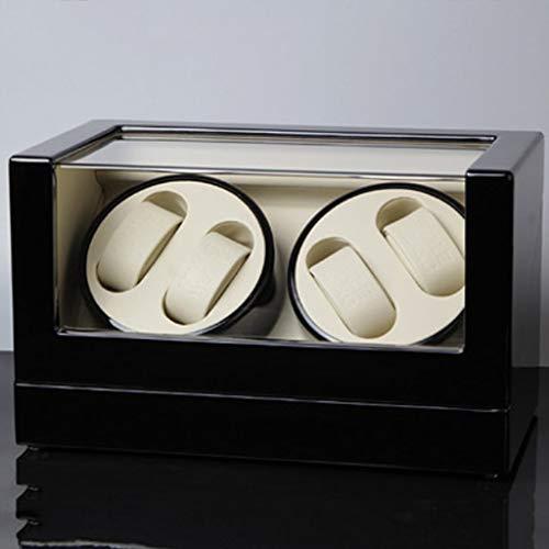 JIAJBG Caja de reloj automática de la devanadera del reloj, caja de reloj automática de la parte superior de la cadena superior, medidor de mesa rotativo, importación del medidor fino / 4+0e