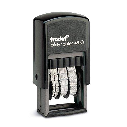 Trodat Printy 4810 - Timbro con data - anno giorno in cifre autoinchiostrante - 3,8 mm, colore: Nero