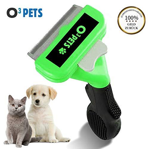 O³ Katzenbürste // Hundebürste Kurzhaar kleine Hunde // Selbstreinigende Fellpflege Bürste // Entfernung der Unterwolle und losen Haare (Kurzhaar)