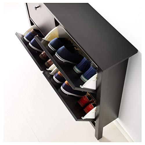 Zapatero IKEA HEMNES con 4 compartimentos 107x22x101 cm negro-marrón