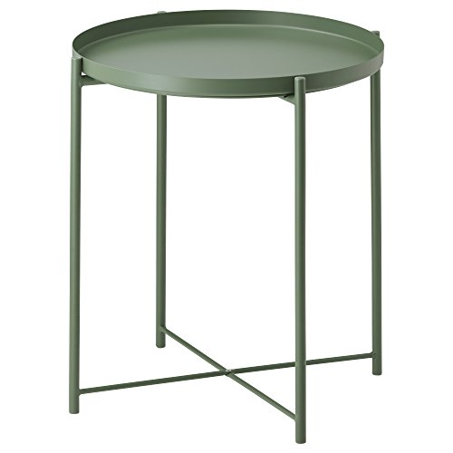 IKEA イケア GLADOM トレイテーブル - ダークグリーン 703.306.72,70330672の写真
