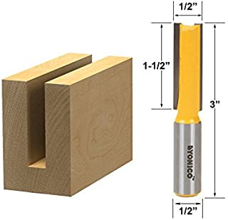 Yonico 14152 1/2-Inch Diameter X 1-1/2-Inch Height Straight Router Bit 1/2-Inch Shank