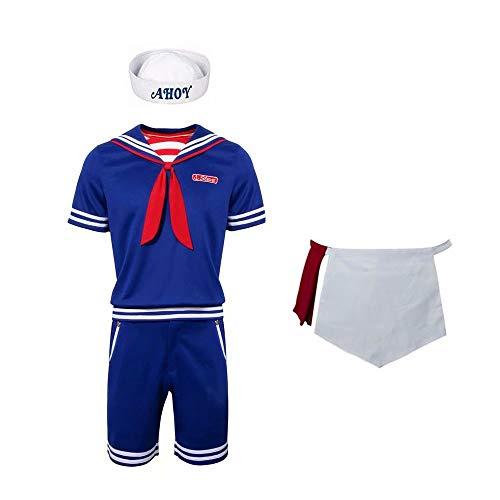 Alisoya Steve Harrington Robin Scoops AHOI Halloween Cosplay Kostüme Erwachsene & Kinder Nautical Sailor Uniform Anzug Karneval, Fremde Dinge mit Zubehör