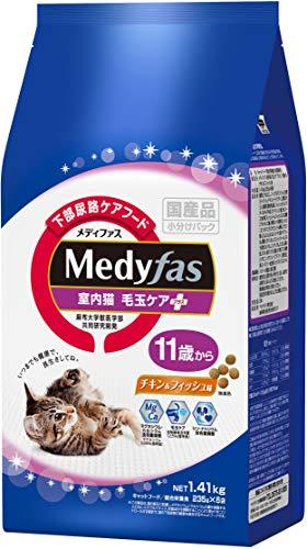 ペットラインメディファス『室内猫毛玉ケアプラス11歳からチキン&フィッシュ味』