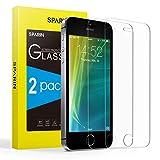 SPARIN [2-Pack] Protector Pantalla iPhone SE 4.0 Pulgada, Cristal Templado iPhone SE 4.0 Pulgada, Vidrio Templado [Sin Cobertura Toda Pantalla] [9H Dureza] [Alta Definicion]