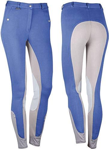 Harry' s Reithose Beijing II, Pantaloni da Equitazione Donna, Grigio (Kobalt/Grau), 44 (D44)