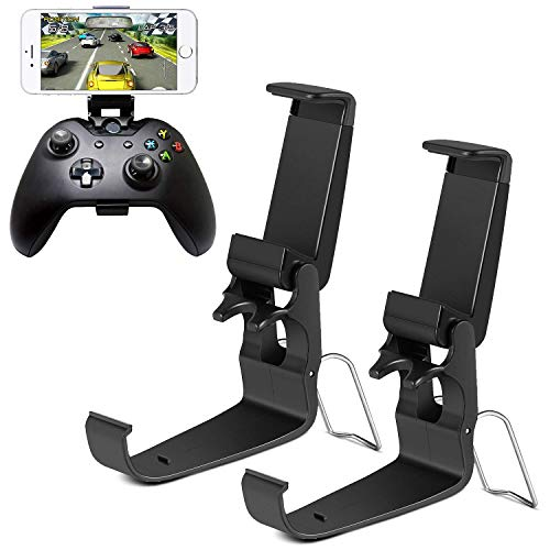 HJD Store 2Pack Xbox One Controller Game Clip Soporte plegable para smartphones para iPhone/One-Plus/LG/Huawei/HTC, compatible con Xbox One/Steelseries Nimbus/Steam Controller