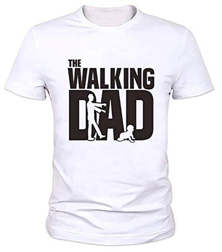 Lovelegis T-Shirt - Maglia - Maglietta - Maniche Corte - Walking Dad - Divertente - IDE Regalo - Uomo - Festa del Papa - Colore Bianco (Taglia XS)