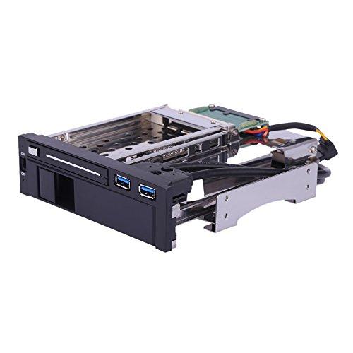 Doppio Baia SATA III Disco rigido HDD e SSD Vassoio Caddy Mobile Interno Cremagliera Allegato Attracco Stazione con USB 3.0 Porta Caldo Scambiare 3.5+ 2.5 Pollici