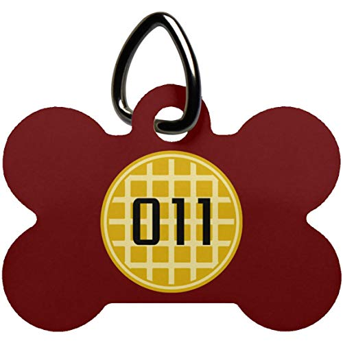 in a World Full of Tens Be an Eleven Waffle 011 Pet Collar Tag Charms, Stocking Stuffer Gifts, Dog Bone